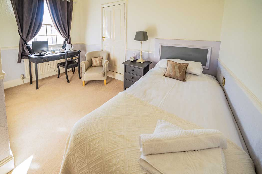 Cosy single room at the Woodlands Hotel in Sidmouth