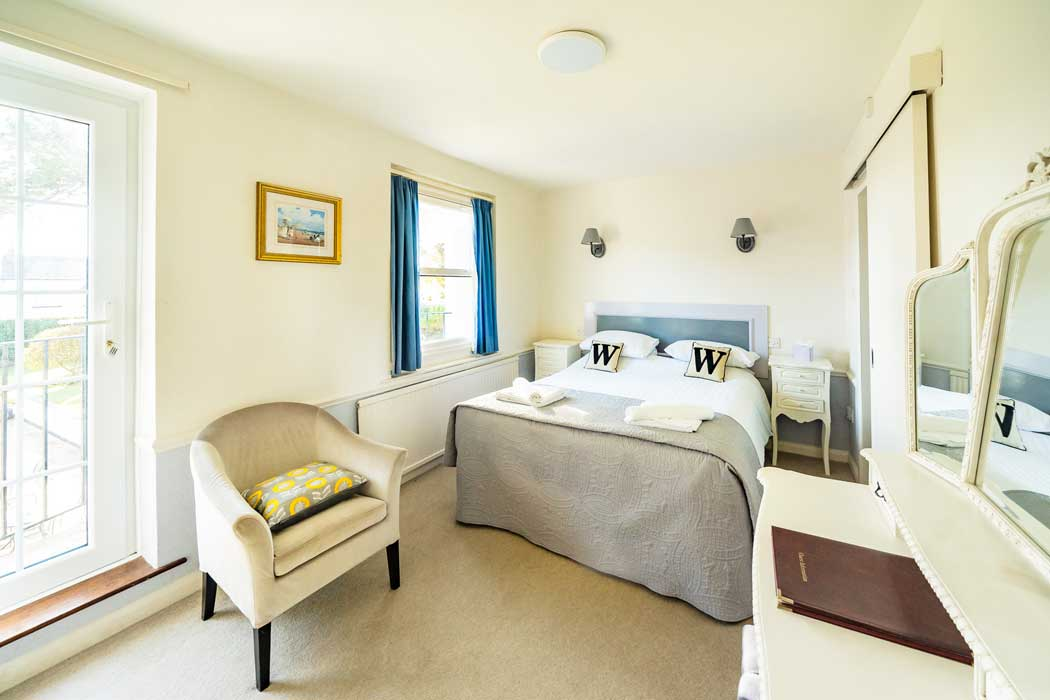 Light and airy standard double room at the Woodlands Hotel in Sidmouth