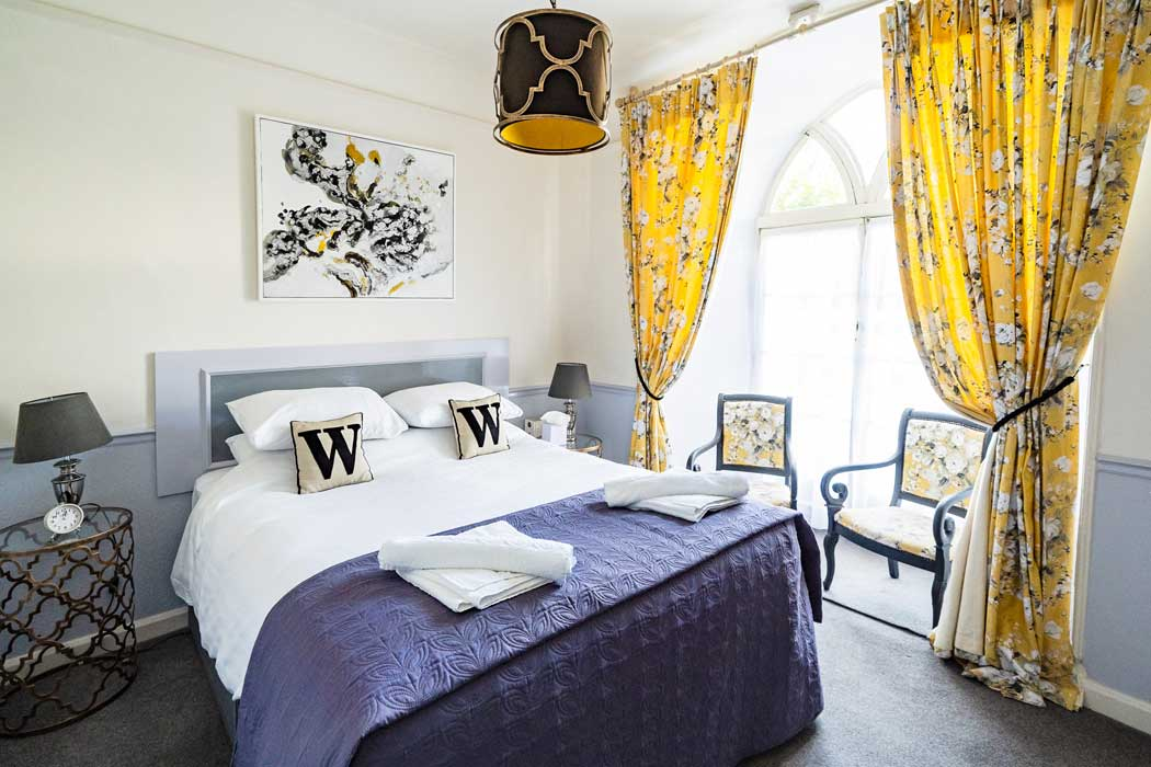 Bright and sunny standard double room at the Woodlands Hotel in Sidmouth