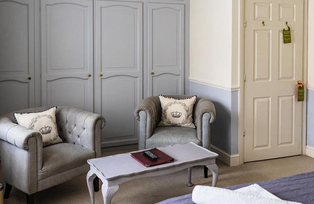 Seating area in the Family Suite at the Woodlands Hotel in Sidmouth