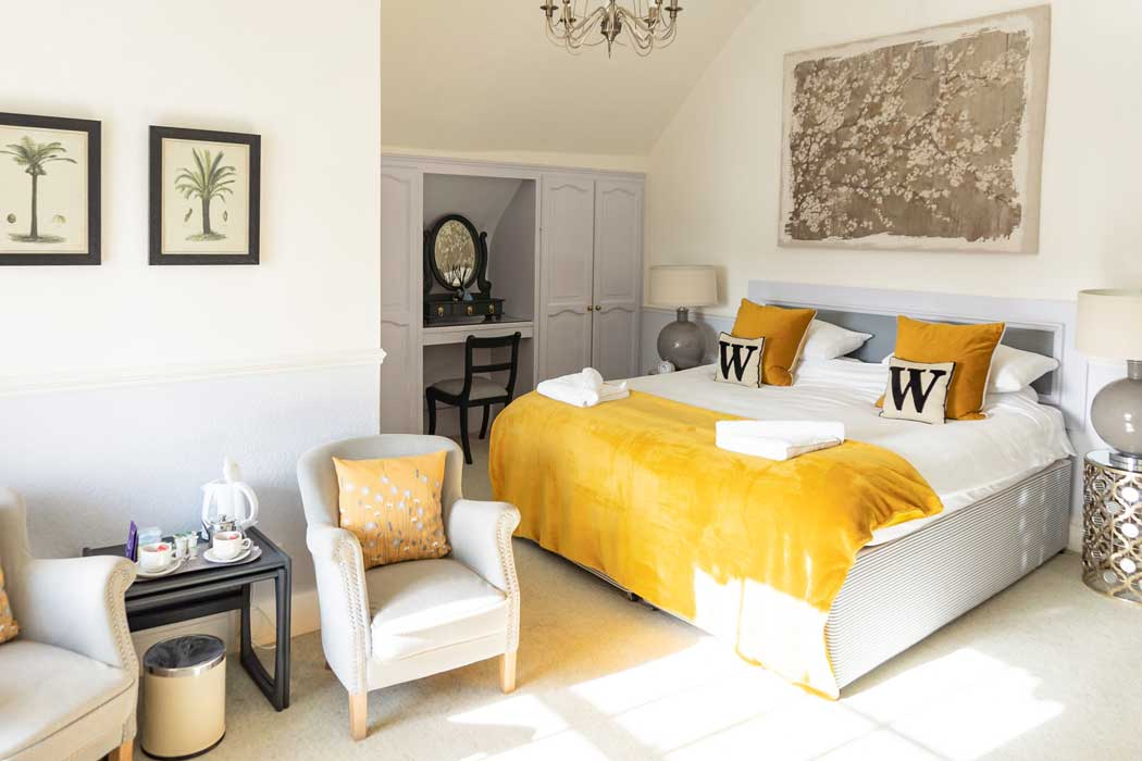 A sunny and spacious Superior Plus room at the Woodlands Hotel in Sidmouth