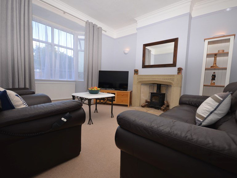 The living room in Regency House self-catering property in Sidmouth